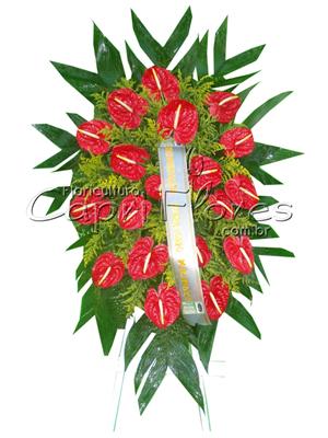 1008 Coroa de Flores de Antúrio