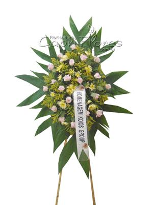 1009 Coroa de Flores Delicada