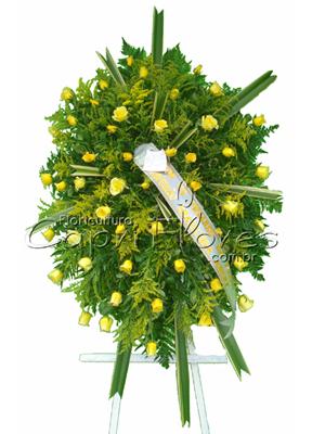 1017 Coroa Medalhão Amarela