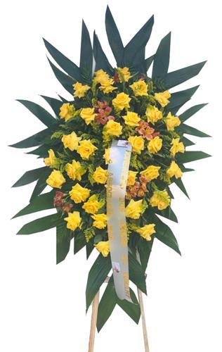 1232 Coroa de Flores com Rosas Amarelas