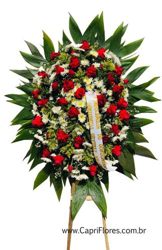1235 Coroa de Flores com Rosas Importadas