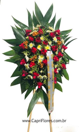 1236 Coroa de Flores com Rosas Importadas