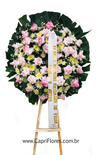 1238 Guirlanda de Flores com Rosas Dobradas