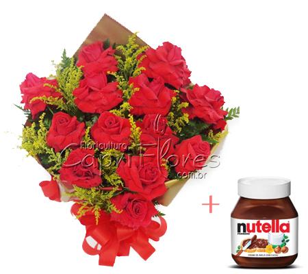 1527 Buquê de Rosas Importadas com Nutella