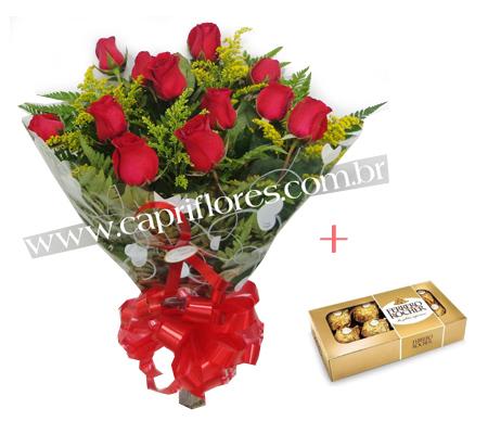 1564 ♥ Buquê de Rosas Vermelhas + Agrado