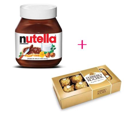 1570 Combo Delicia - Pote de Nutella 140 Gramas + Ferrero Rocher