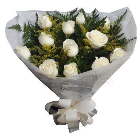 1577 ♥ Buquê de Rosas White