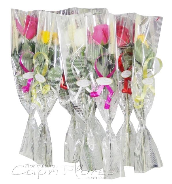 1591 ♥ 60 Rosas Decoradas Unitárias