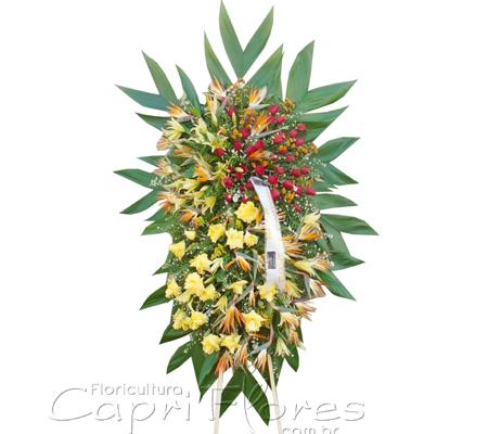 1728 Coroa de Flores Grande em camadas