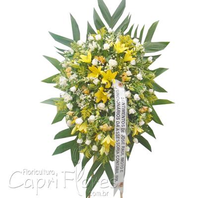1729 Coroa de Flores Mistas Média