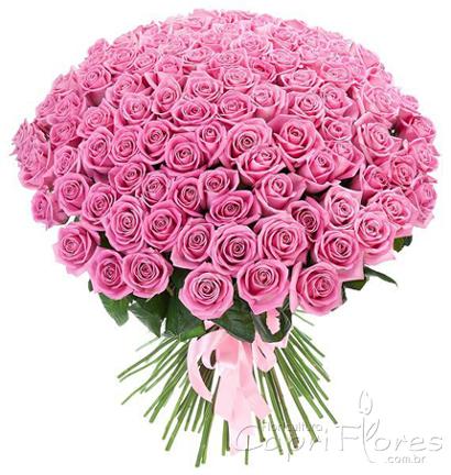 1848 ♥ Buquê Gigante de Rosas Lilás