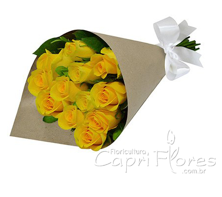 1849 Buquê de Rosas Amarela
