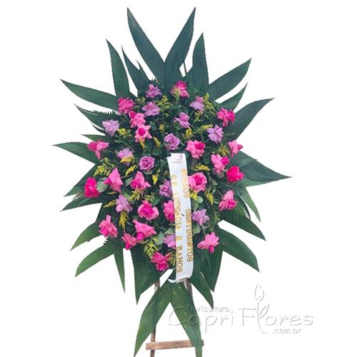 1872 Coroa de Rosas Dobradas Pink e Lilás