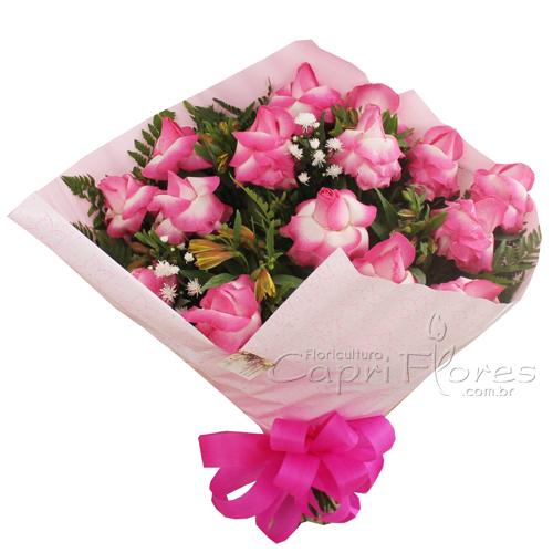 1913 ♥ Buquê de Rosas Pink Dobrada