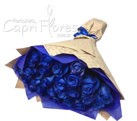 1918 ♥ Buquê de Rosas Azuis