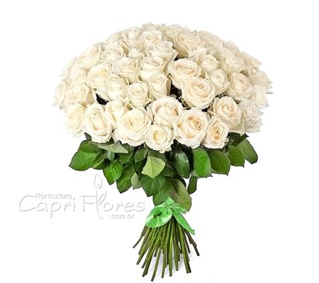 1921 ♥ Buquê de Rosas Gigante, Rosas Brancas