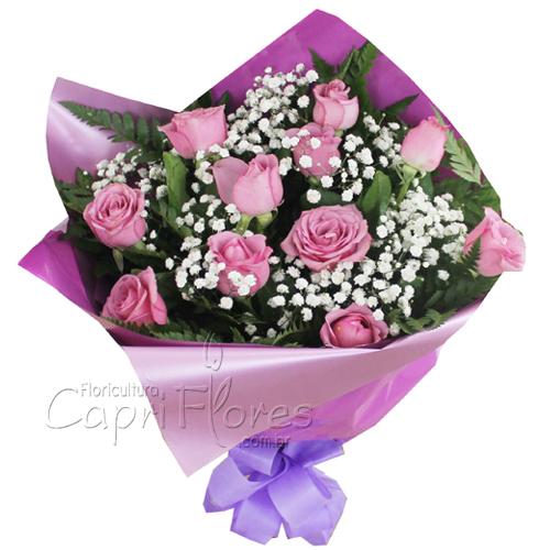 2026 Buquê de Rosas Lilás Delicado