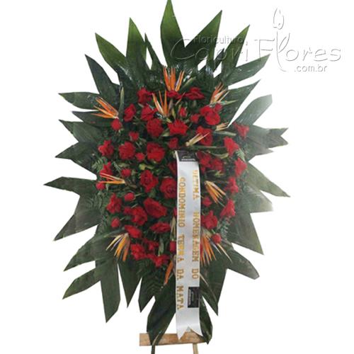 2031 Coroa de Flores Com Rosas Dobradas
