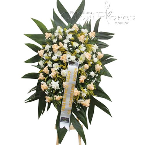 2037 Coroa de Flores com Rosas Dobradas