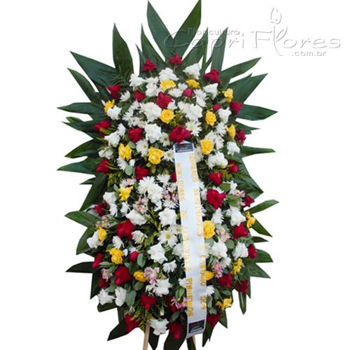 2039 Coroa de Flores Grande com 2 Buquês