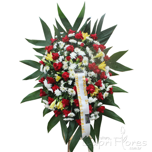2059 Coroa de Flores Rosas Dobradas
