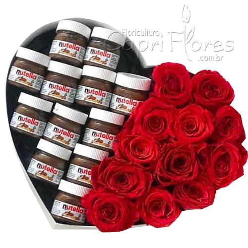 2090 Box de Coração com Nutella