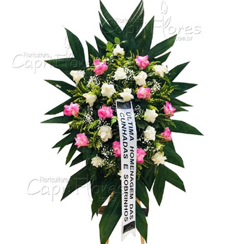 2165 Coroa de Flores com Rosas Dobradas Curitiba