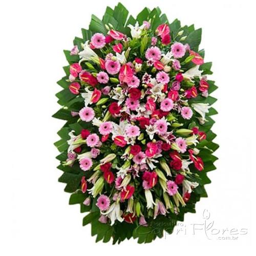 2322 Coroa de flores Grande com Flores Mistas