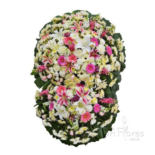 2324 Coroa de Flores Mistas Grande