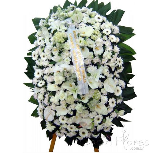 2325 Coroa de Flores Brancas Grande