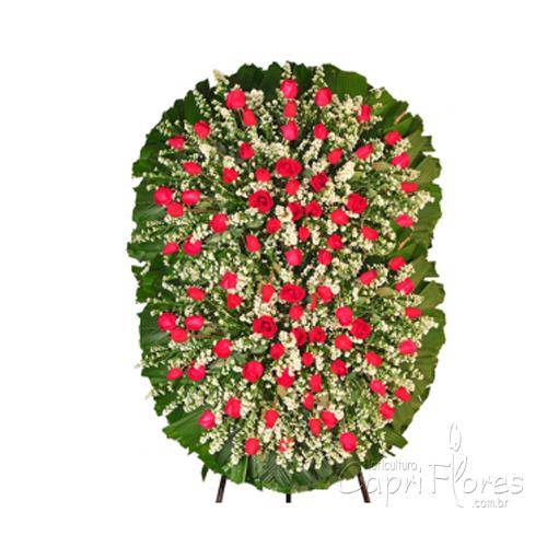 2326 Coroa de Flores Grande com Rosas