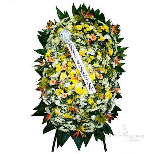 2329 Coroa de Flores Grande com Flor do Campo