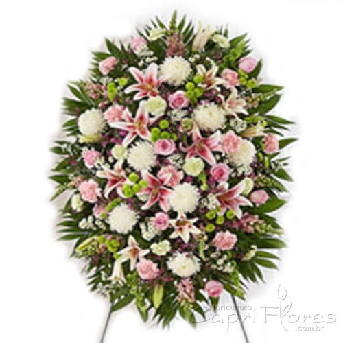 2334 Coroa de Flores com Lírio