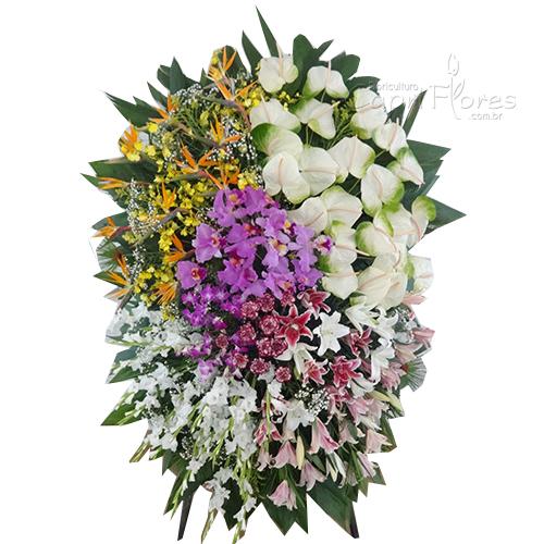 2350 Coroa de Flores Gigante com Flores Nobres