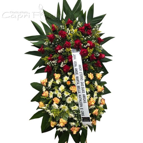 2420 Coroa de Flores com 2 Buquês para Homenagear