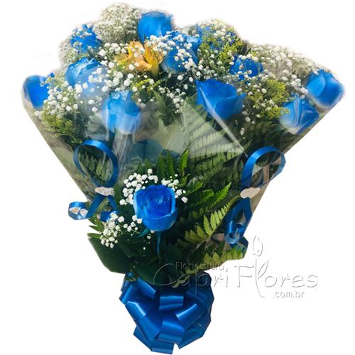 2680 ♥ Buquê com Rosas Azuis
