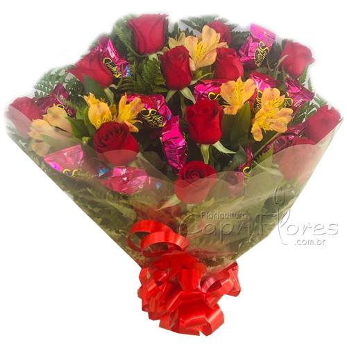 2682 ♥ Buquê de Rosas Vermelhas + Sonho de Valsa