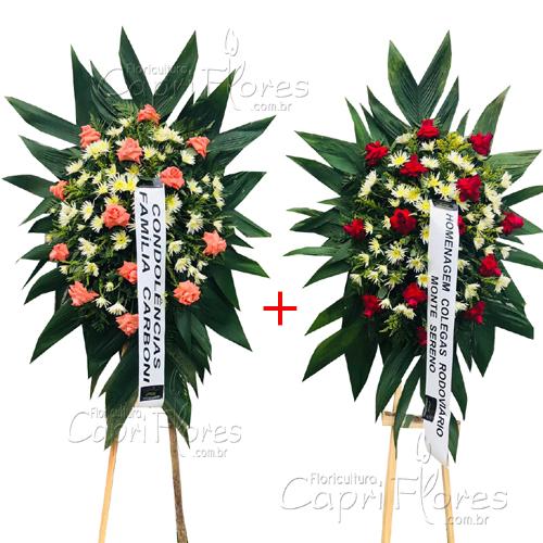 2856 Promoçãoo!! Duas Coroas de Flores