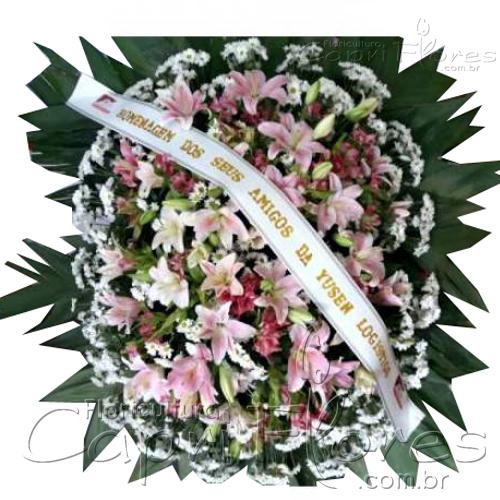 2858 Coroa de Flores com Lírios