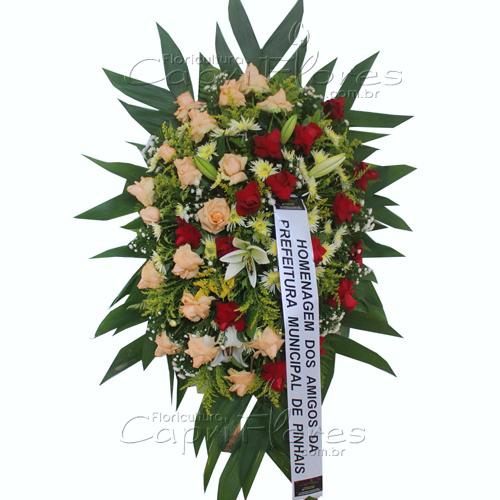 2859 Coroa de Flores Variadas - Entrega Grátis em Curitiba