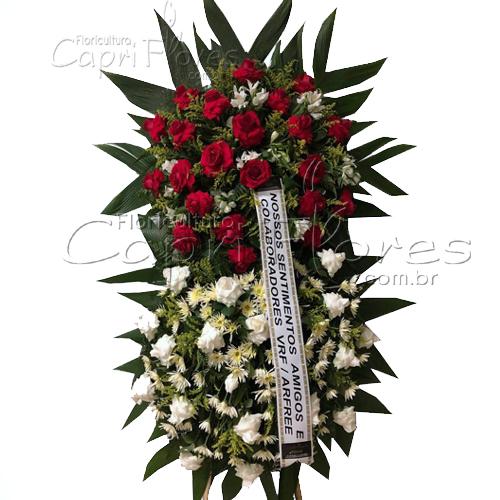 2860 Coroa de Flores 2 Buquês - Entrega Grátis em Curitiba