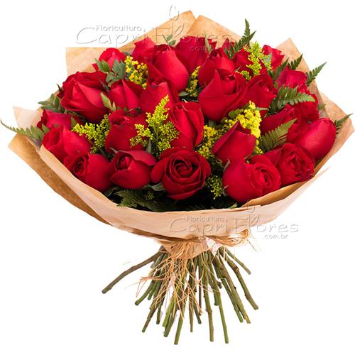2943 ♥ Buquê Grande com Rosas Vermelhas