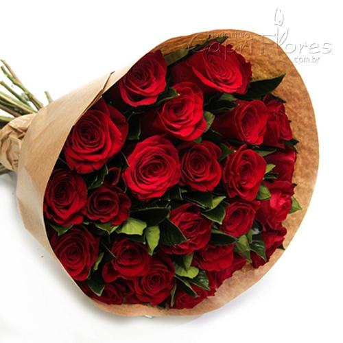 2948 ♥ Buquê com Rosas Vermelhas