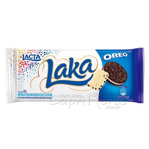 3203 Barra de Chocolate Laka com Oreo