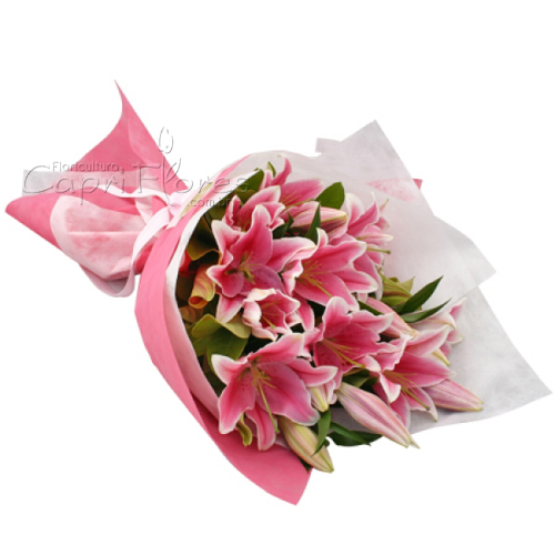 3210 ♥ Buquê de Lírios Cor de Rosas 2020