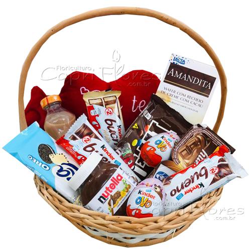 3236 ♥ Hummm Que Deliciaaa - Cesta de Chocolate