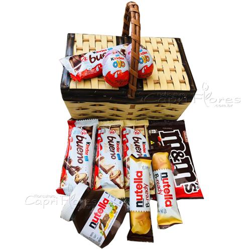 3239 ♥ Cesta de Picnick Recheada de chocolate