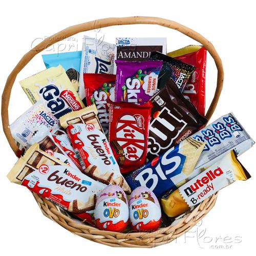 3240 ♥ Cesta de Chocolate bem Gostosa