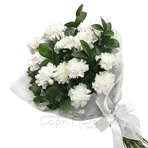 3409 ♥ Buquê de Cravos Brancos