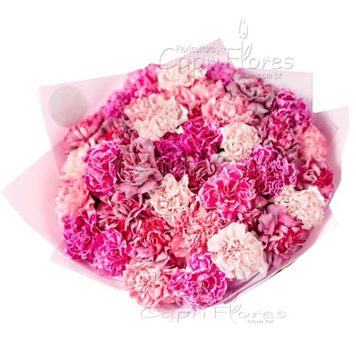 3422 ♥ Buquê de Cravos Rosa